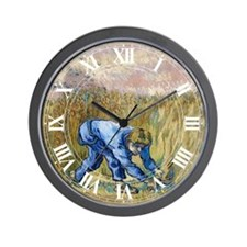 Van Gogh The Reaper Wall Clock