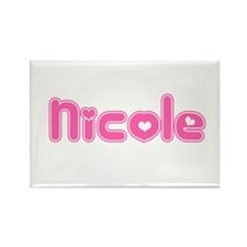 """Nicole"" Rectangle Magnet"