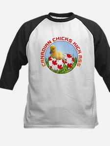 Canadian Chicks kick ass Kids Baseball Jersey