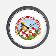 Canadian Chicks kick ass Wall Clock