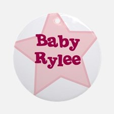 Baby Rylee Ornament (Round)