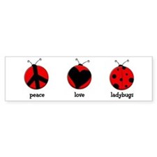 Peace, love, ladybugs Stickers
