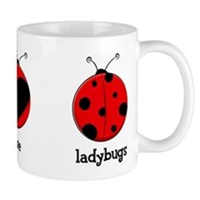 Peace, love, ladybugs Small Mug