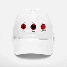 Peace, love, ladybugs Baseball Baseball Cap