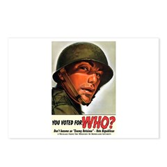 Voted for WHO? Postcards (Package of 8)