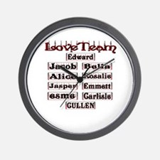 love team cullen Wall Clock