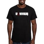 Snowmobile Skull Men's Fitted T-Shirt (dark)