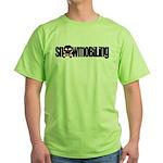 Snowmobile Skull Green T-Shirt