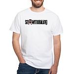 Snowmobile Skull White T-Shirt