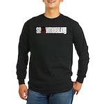 Snowmobile Skull Long Sleeve Dark T-Shirt