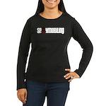 Snowmobile Skull Women's Long Sleeve Dark T-Shirt