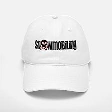 Snowmobile Skull Baseball Baseball Cap