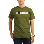 Snowmobile Skull Organic Men's T-Shirt (dark)