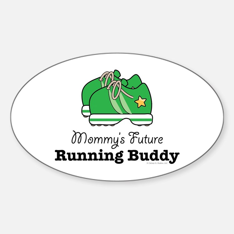Mommy's Future Running Buddy Oval Decal