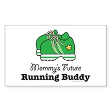 Mommy's Future Running Buddy Rectangle Decal