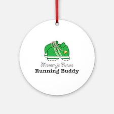 Mommy's Future Running Buddy Ornament (Round)
