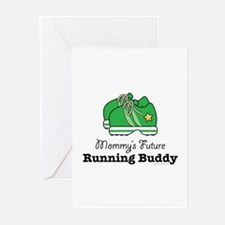 Mommy's Future Running Buddy Greeting Cards (Pk of