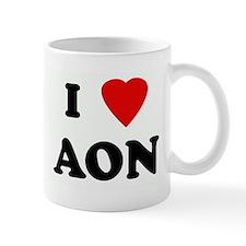 I Love AON Mug
