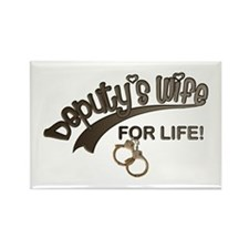Deputy's Wife for Life Rectangle Magnet
