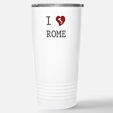 I Love Rome Stainless Steel Travel Mug