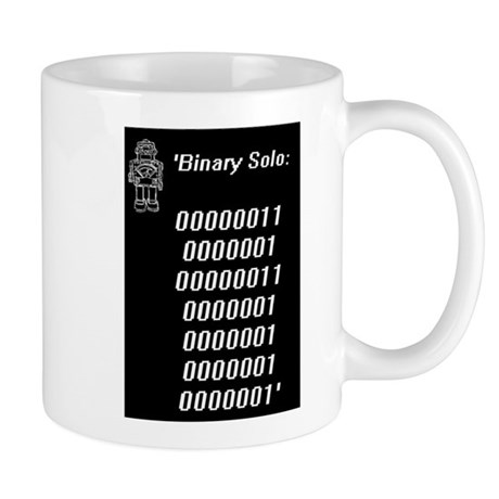 Binary solo blk Mugs