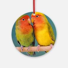 """Lovebirds"" Ornament (Round)"