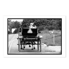 Amish Buggy Waves Postcards (Package of 8)