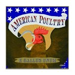 American Poultry Tile Coaster