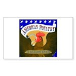 American Poultry Rectangle Sticker 10 pk)