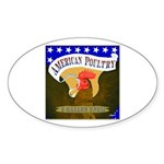 American Poultry Oval Sticker (50 pk)