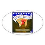 American Poultry Oval Sticker (10 pk)