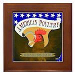 American Poultry Framed Tile