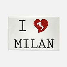 I Love Milan Rectangle Magnet