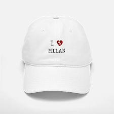 I Love Milan Baseball Baseball Cap