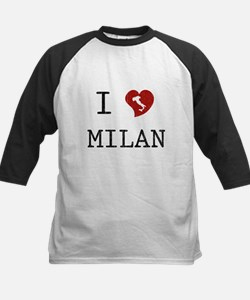 I Love Milan Kids Baseball Jersey