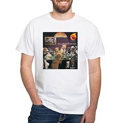 White T-Shirt: Dogs playing poker