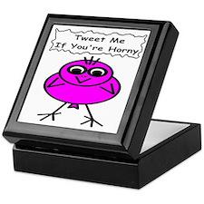 Tweet me if you're horny Keepsake Box