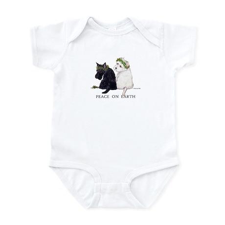 Scottish Terrier Westie Christmas Infant Bodysuit