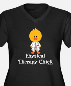 Physical Therapy Chick Women's Plus Size V-Neck Da