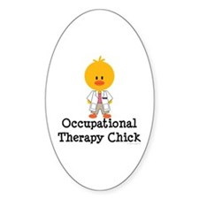 Occupational Therapy Chick Oval Decal