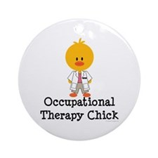Occupational Therapy Chick Ornament (Round)