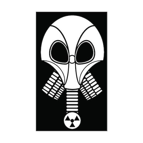 Necropolis Gas Mask Rectangle Sticker