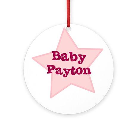 Baby Payton Ornament (Round)