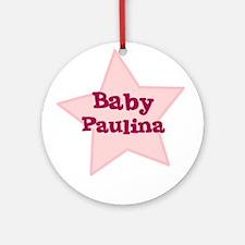 Baby Paulina Ornament (Round)