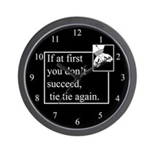 Tie Tie Again Wall Clock