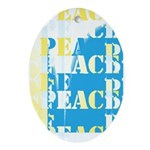 Words of PEACE Oval Ornament