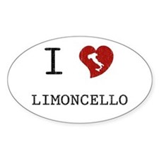 I Love Limoncello Oval Decal