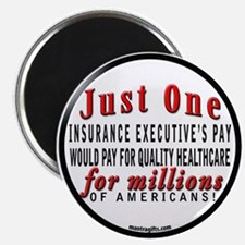 JUST ONE INSURANCE EXECUTIVE'S PAY Magnet