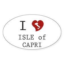 I Love Isle of Capri Oval Decal