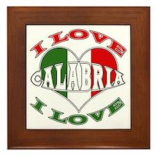 Italian I Love Calabria Framed Tile